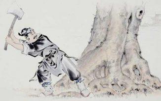 Ngô Cương đốn quế (một phiên bản khác của Chú cuội cây đa)