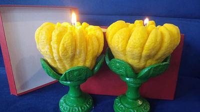 Nến Phật thủ - tâm linh người Việt