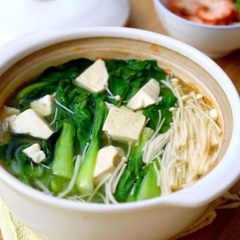 Món ăn tẩm bổ từ cải thìa dành cho người ăn chay