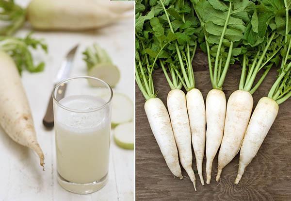 Nước ép củ cải trắng có tác dụng gì